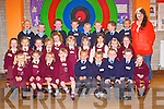 FIRST DAY OF SCHOOL: The Junior Infants of St Mary's Presentation, Castlisland with their teacher Cora Dowling at their very first day of school on Tuesday.