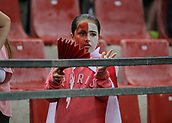 June 4th 2017, Estadi Montilivi,  Girona, Catalonia, Spain; Spanish Segunda División Football, Girona versus Zaragoza; A young girl with her face painted red and white in team colours
