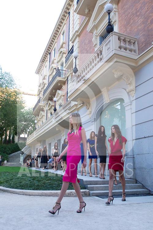 04.09.2012. Models walk the runway in the Alvarno fashion show during the OFF Mercedes-Benz Fashion Week Madrid Spring/Summer 2013 at Museo Lazaro Galdiano. (Alterphotos/Marta Gonzalez)