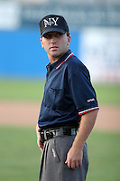 Umpire Keith Rogowski during a NY-Penn League game at Dwyer Stadium on August 4, 2006 in Batavia, New York.  (Mike Janes/Four Seam Images)