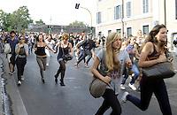 Roma, 7 Ottobre 2011.Manifestazione di Studenti e studentesse medi contro i tagli alla scuola pubblica, le classi pollaio e il governo