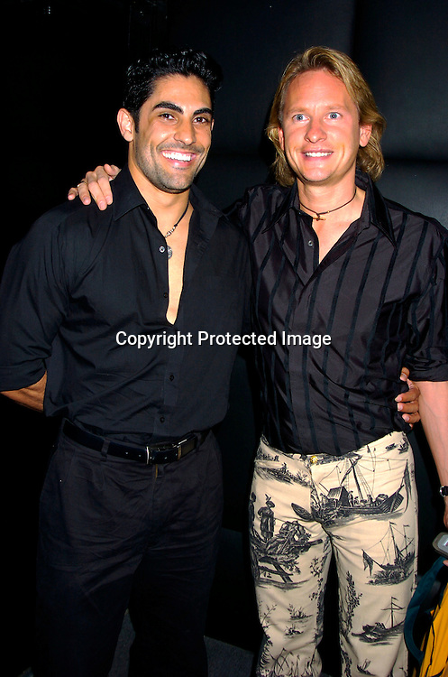 "Carson Kressley and boyfriend Marcos DeSousa ..at Animal Fair's fifth Annual "" Paws for Style"" fashion show to celebrate the 100th year anniversary of the Humane society of New York. The event was on May 24, 2004 at ..Club Black...Photo by Robin Platzer, Twin Images"