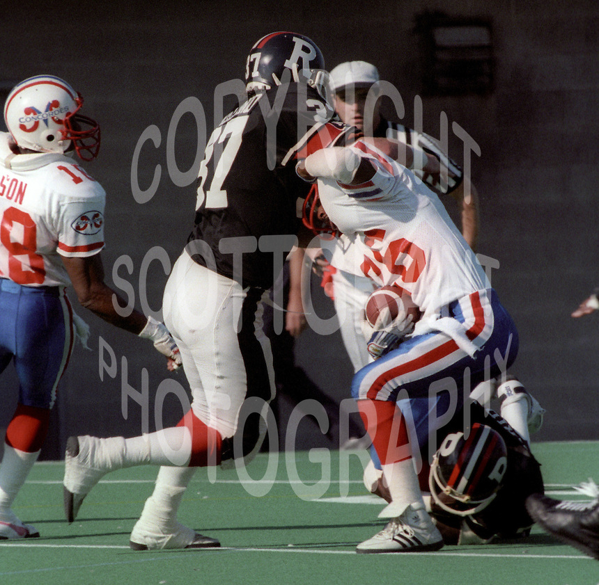 Shane Ireland Ottawa Rough Riders 1985. Photo F. Scott Grant