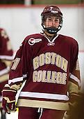 Andrea Green (BC - 21) - The Harvard University Crimson defeated the Boston College Eagles 5-0 in their Beanpot semi-final game on Tuesday, February 2, 2010 at the Bright Hockey Center in Cambridge, Massachusetts.