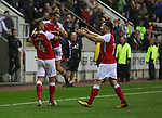 Rotherham United VS Walsall FC, New York Stadium Rotherham, Tuesday 12th September 2017 <br /> <br /> Jon Taylor of Rotherham United Celebrates scoring his goal, the first of the night for Rotherham.<br /> <br /> Picture - Alex Roebuck / www.alexroebuck.co.uk