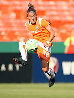 Julianne Sitch #38 of Sky Blue FC pulls down a high ball during a WPS match against the Washington Freddom at RFK Stadium on May 23, 2009 in Washington D.C.
