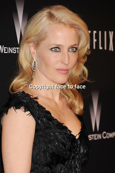 BEVERLY HILLS, CA- JANUARY 12: Actress Gillian Anderson attends The Weinstein Company &amp; Netflix 2014 Golden Globes After Party held at The Beverly Hilton Hotel on January 12, 2014 in Beverly Hills, California.<br /> Credit: Mayer/face to face<br /> - No Rights for USA, Canada and France -