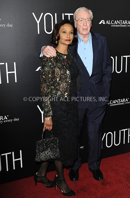 WWW.ACEPIXS.COM<br /> <br /> November 17 2015, LA<br /> <br /> Shakira Caine and Michael Caine arriving at the premiere of 'Youth' at the DGA Theater on November 17, 2015 in Los Angeles, California<br /> <br /> By Line: Peter West/ACE Pictures<br /> <br /> <br /> ACE Pictures, Inc.<br /> tel: 646 769 0430<br /> Email: info@acepixs.com<br /> www.acepixs.com