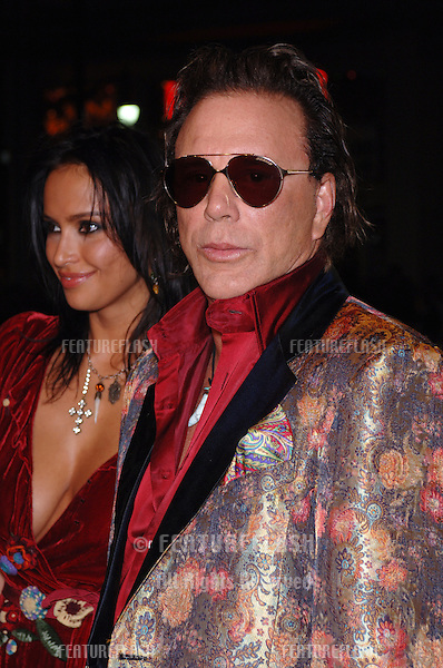 Actor MICKEY ROURKE & girlfriend at the Los Angeles premiere of his new movie Domino. .October 11, 2005 Los Angeles, CA..© 2005 Paul Smith / Featureflash