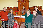 SHRINE: An old confessional has been converted to a new shrine to Padre Pio in St Mary's Church in Listowel. Pictured l-r: Canon Declan O'Connor, Bernadette Hanrahan, Amelia Stack, Kathleen O'Sullivan, Jackie McGillycuddy, Denis Ahern.