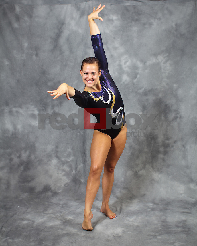 Megan Whitney..---------2011-2012 University of Washington Gymnastics team photographed on Thursday, September 22, 2011. (Photo by Dan DeLong/Red Box Pictures)