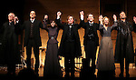 Michael Siberry, James Waterston, Maite Alina, Richard Thomas, Boyd Gaines, Kathleen McNenny and John Procaccino during the Broadway Opening Night Performance Curtain Call for  'An Enemy of the People' at the Samuel J. Friedman Theatre in New York. Sept. 27, 2012