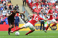 Lewis Morgan of Sunderland takes the ball past Charlton's Ben Purrington during Charlton Athletic vs Sunderland AFC, Sky Bet EFL League 1 Play-Off Final Football at Wembley Stadium on 26th May 2019