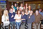 Birthday celebrations for Duagh local Una Sheeran(3rd from left), pictured here with family and friends last Sunday night in Leen's Hotel, Abbeyfeale..**Doesn't want to mention age**