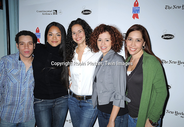 "cast of ""In The Heights""..at The Broadway Cares/Equity Fights Aids 22nd Annual Broadway Flea Market on September 21, 2008 in Shubert Alley in New York City. ....Robin Platzer, Twin Images"