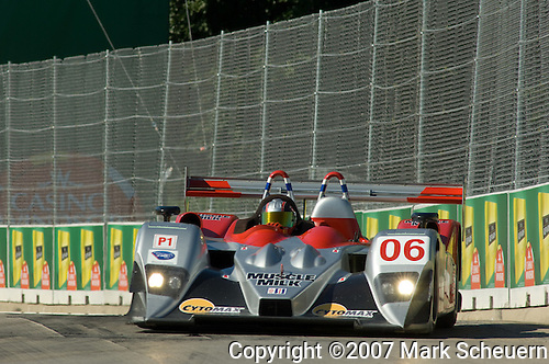 1 September 2007: The Team Cytosport Lola B06/10-AER driven by Greg Pickett (USA) at the Detroit Sports Car Challenge presented by Bosch, Detroit, MI