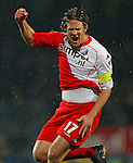 Nederland, Waalwijk, 21 april 2012.Eredivisie.Seizoen 2011-2012.RKC Waalwijk-FC Utrecht (0-2).Alje Schut aanvoerder van FC Utrecht schreeuwt het uit van vreugde nadat hij een doelpunt heeft gemaakt, 0-1.