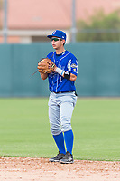 Team Italy second baseman Ricardo Paolini (1) during an exhibition game against the Oakland Athletics at Lew Wolff Training Complex on October 3, 2018 in Mesa, Arizona. (Zachary Lucy/Four Seam Images)
