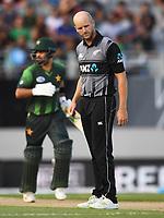 Seth Rance.<br /> Pakistan tour of New Zealand. T20 Series.2nd Twenty20 international cricket match, Eden Park, Auckland, New Zealand. Thursday 25 January 2018. &copy; Copyright Photo: Andrew Cornaga / www.Photosport.nz