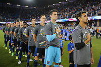 San Jose, CA - Saturday September 16, 2017: San Jose Earthquakes, Chris Wondolowski prior to a Major League Soccer (MLS) match between the San Jose Earthquakes and the Houston Dynamo at Avaya Stadium.