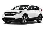 Stock pictures of low aggressive front three quarter view of 2019 Honda CR-V LX 5 Door SUV Low Aggressive