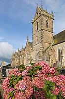 Europe/France/Normandie/Basse-Normandie/50/Presqu'île du Cotentin/Pointe de La Hague/Biville:  Église paroissiale Saint-Pierre // France, Manche, Cotentin, La Hague, Biville: the church
