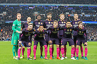 Barcelona pre match team photo during the UEFA Champions League match between Manchester City and Barcelona at the Etihad Stadium, Manchester, England on 1 November 2016. Photo by Andy Rowland / PRiME Media Images.