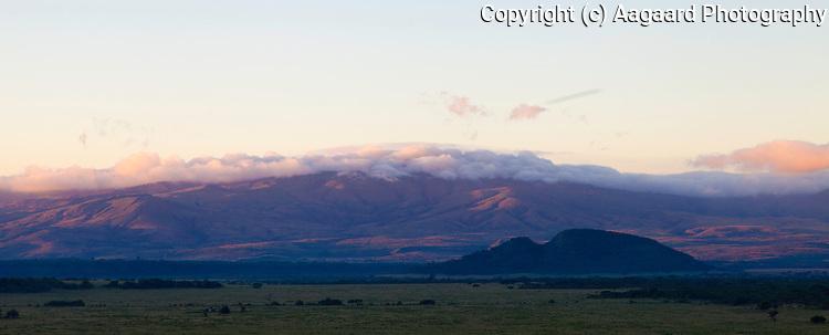 Sunrise over the Soysambu Ranch, Great Rift Valley, Kenya