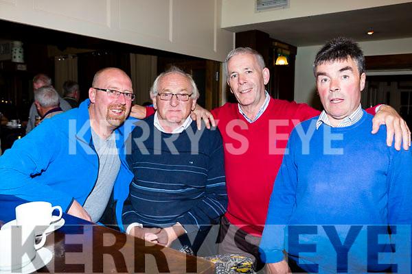 John O'Shea, John O'Sullivan, Peter and Jerry O'Leary at the Killarney heights hotel locals night