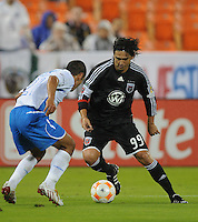 DC Unitedl forward Jaime Moreno (99) dribbles the ball against CD Cruz Azul midfielder Jaime Lozano (21). CD Cruz Azul defeated DC United 1-0 ,  in the first leg of the group A of the Concacaf Champions League, Wednesday October 1st, 2008 at RFK Stadium.