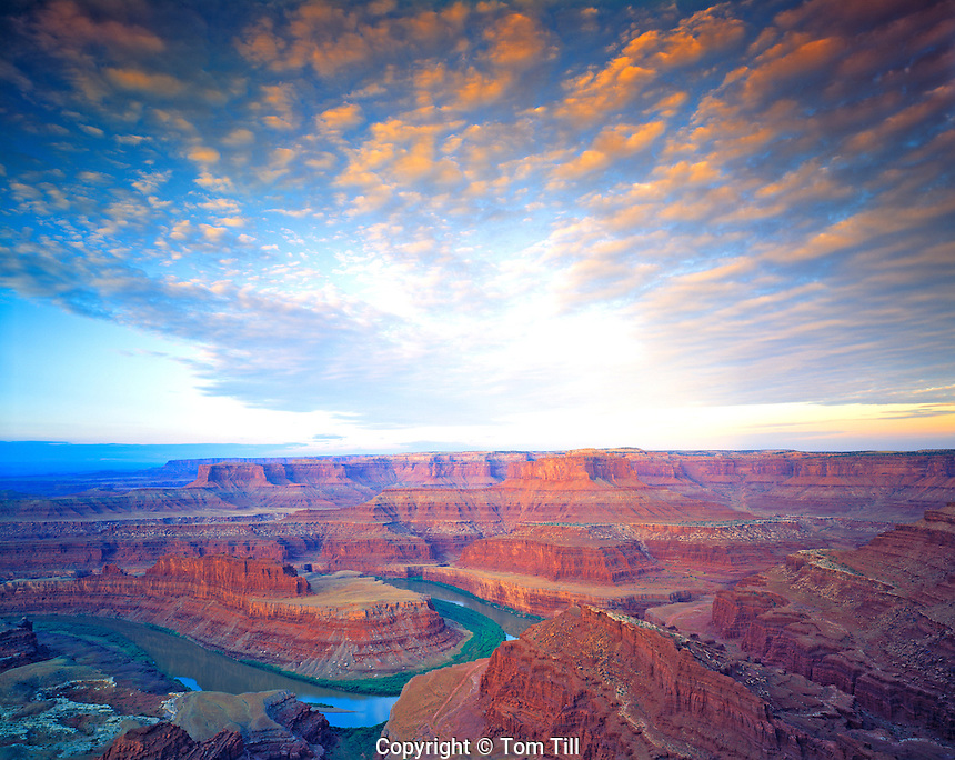 Dead Horse Point and Clouds, View of Canyonlands National Park & Colorado River, Dead Horse Point State Park, Utah