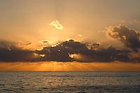 Bahama sunset at anchor