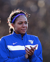 Boston Breakers forward Sydney Leroux (2). In a National Women's Soccer League Elite (NWSL) match, the Boston Breakers (blue) tied the Washington Spirit (white), 1-1, at Dilboy Stadium on April 14, 2012.