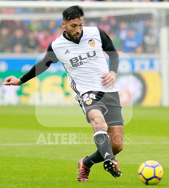 Valencia CF's Ezequiel Garay during La Liga match. October 28,2017. (ALTERPHOTOS/Acero)