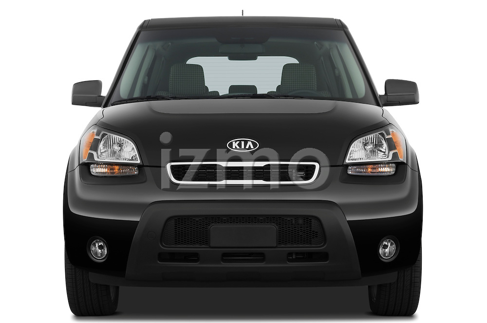 Straight front view of a 2010 Kia Soul!
