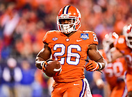 Charlotte, NC - DEC 2, 2017: Clemson Tigers running back Adam Choice (26) scores a touchdown during ACC Championship game between Miami and Clemson at Bank of America Stadium Charlotte, North Carolina. (Photo by Phil Peters/Media Images International)