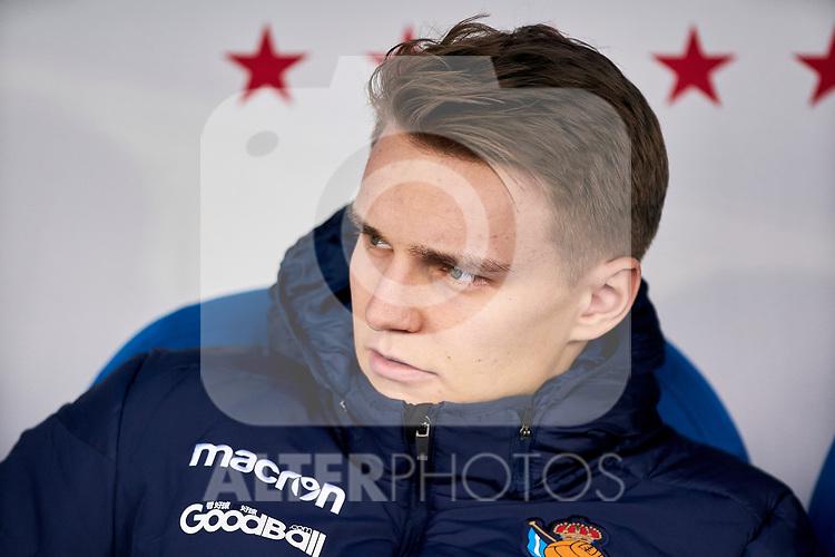 Martin Odegaard of Real Sociedad