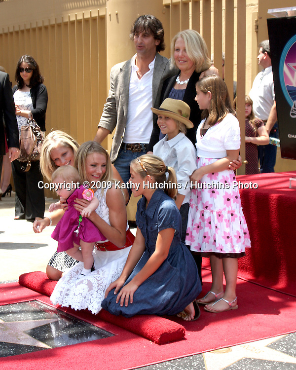 Cameron Diaz & family  at the Cameron Diaz Star on the Hollywood Walk of Fame Ceremony  in front of the Egyptian Theater on June 22, 2009.  .©2009 Kathy Hutchins / Hutchins Photo