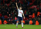 9th December 2017, Wembley Stadium, London England; EPL Premier League football, Tottenham Hotspur versus Stoke City; Ben Davies of Tottenham Hotspur calls for the ball