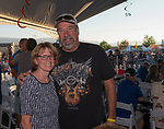Patti and Dave Smit at the VIP tent during Hot August Nights at the Grand Sierra Resort in Reno, Nevada on Friday, August 11, 2017.