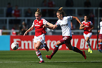 Kim Little of Arsenal and Laura Vetterlein of West Ham during Arsenal Women vs West Ham United Women, Barclays FA Women's Super League Football at Meadow Park on 8th September 2019