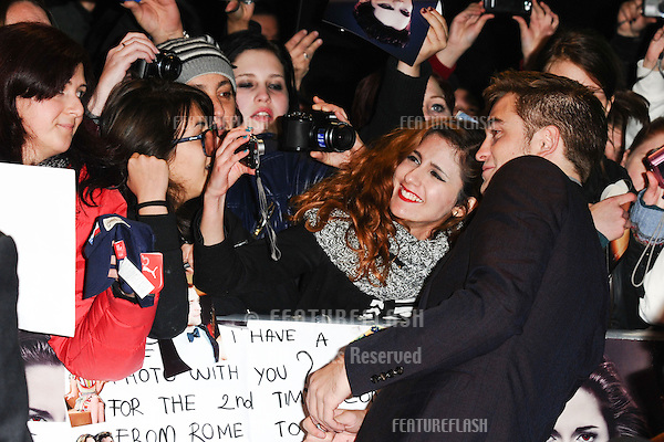 """Robert Pattinson arriving for the """"The Twilight Saga: Breaking Dawn Part 2"""" premiere at the Odeon Leicester Square, London. 14/11/2012 Picture by: Steve Vas / Featureflash"""