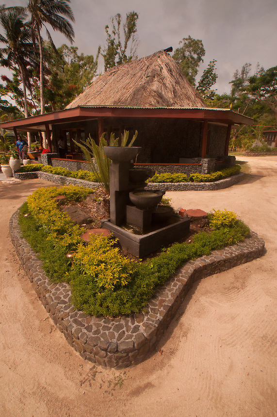 Fountain Outside of Gift Shop, Turtle Island, Yasawa Islands, Fiji