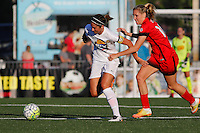 Rochester, NY - Friday June 17, 2016: Western New York Flash midfielder Abby Erceg (6), Portland Thorns FC midfielder Allie Long (10) during a regular season National Women's Soccer League (NWSL) match between the Western New York Flash and the Portland Thorns FC at Rochester Rhinos Stadium.