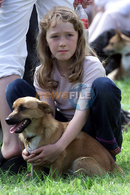 Joanne McCullough from Grangebellew with her dog Brandy at the Dundalk Show in Castlebellingham on Sunday..Picture Paul Mohan Newsfile