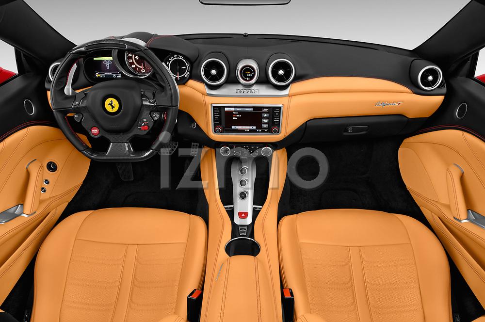 Stock photo of straight dashboard view of 2016 Ferrari California-T 2 Door Convertible Dashboard