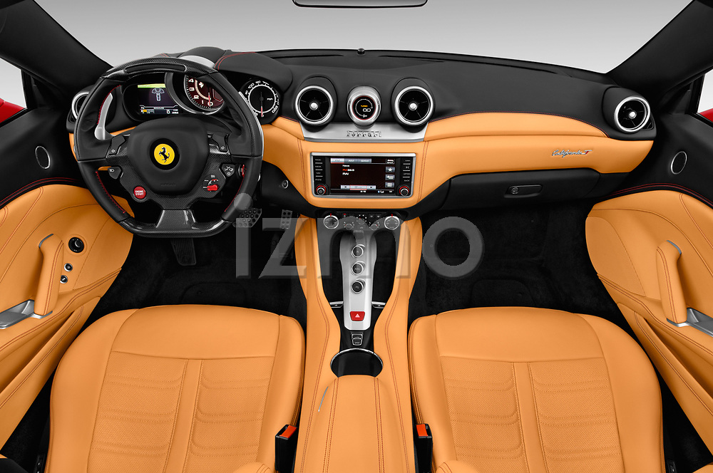 Stock photo of straight dashboard view of 2017 Ferrari California-T 2 Door Convertible Dashboard