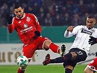 Kevin-Prince Boateng (Eintracht Frankfurt) gegen Danny Latza (1. FSV Mainz 05) - 07.02.2018: Eintracht Frankfurt vs. 1. FSV Mainz 05, DFB-Pokal Viertelfinale, Commerzbank Arena