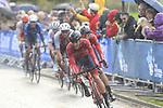 Idar Andersen and Tobias Foss (NOR) on the front in wet conditions on the Harrogate circuit during the Men U23 Road Race of the UCI World Championships 2019 running 186.9km from Doncaster to Harrogate, England. 27th September 2019.<br /> Picture: Eoin Clarke | Cyclefile<br /> <br /> All photos usage must carry mandatory copyright credit (© Cyclefile | Eoin Clarke)