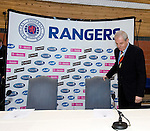 "Walter Smith answers the call and is the new ""short term"" manager of Rangers at a press conference in January 2007, installed after Paul Le Guen's departure to stabilise the club"